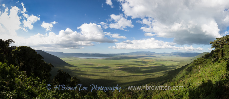 Panoramic of Ngorongro Crater, Tanzania