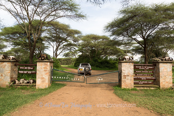 Made it to Ndabaka Gate with minutes to spare