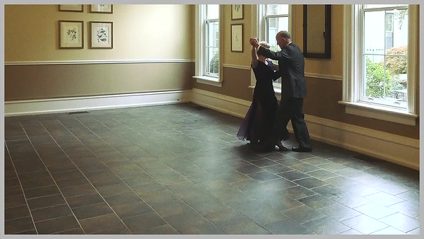 Video: 3 mins ~~ (Click on above image and then on triangle and video will play.)   Allen & Karen Porter ~~ --Wedding Dance Revison