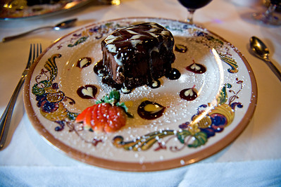 Chocolate cake. Very rich.