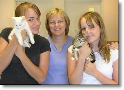 Paige and Pearl got adopted,  8-1-04<br /> Sisters there were 3.  All are adopted.