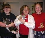 The little kitten named Christmas gets to go home and join a family.  Adopted 12-28-04.