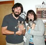 Ringer and Corky adopted together 10/4/04 into a wonderful home.  They are very happy and healthy.  Their new mom and dad say they are staying for good.