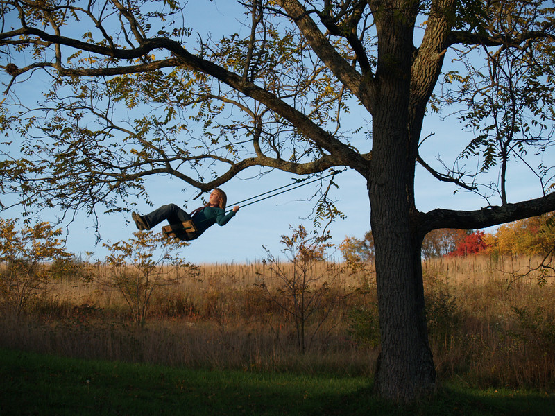 Lydia swinging