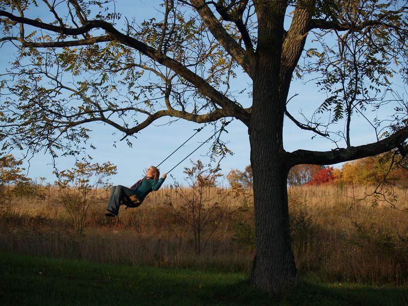 Lydia swinging at Alf & Kelli's
