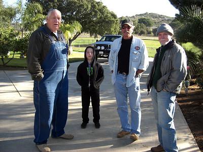 Chuck, Pat Gaffney with grandson, JK. Alpine, Japatul ranch, December 22, 2011
