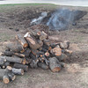 Pile of firewood and some ashes left,  time to pack and go home ! :)<br /> January 29, 2010