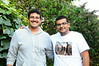 Ibraham (left) came with Amir and Hussain.  He is studying at Northridge.