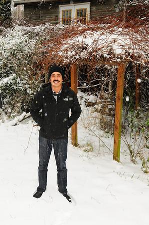 Snow!  1-18-12