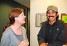 Teacher Jennifer Haywood with Amir