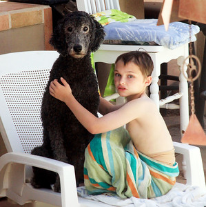 Amylynne & Nic: Poodle & Pool Therapy Aug '16