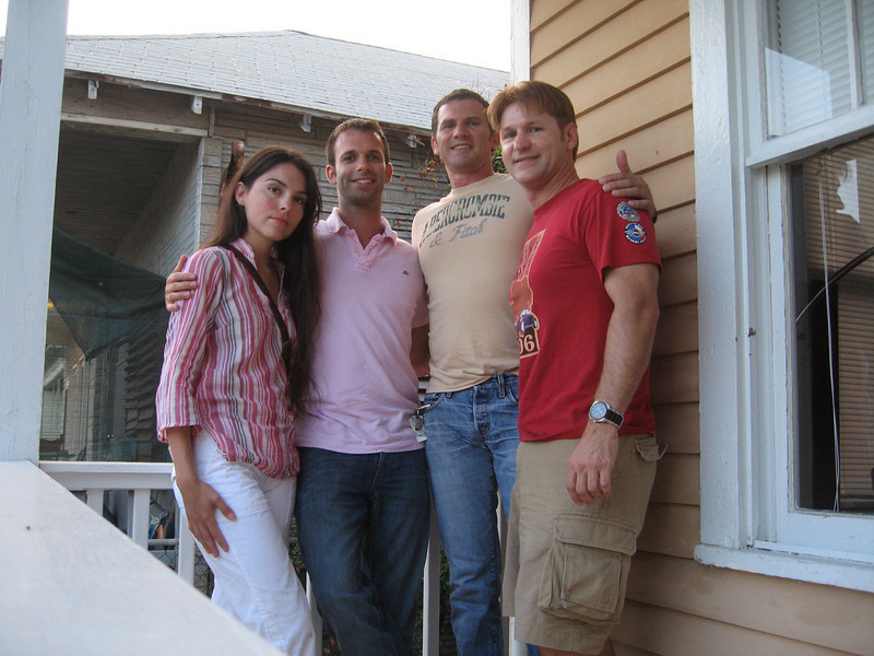 Pita, Andrew, Chuck, & Danny on Chuck's front porch.