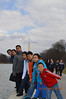 by the reflection pool - Washington Monument