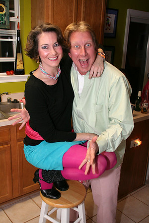 "2007 Laura turns 40!! Kurt's just plain old ""80s was the theme"""