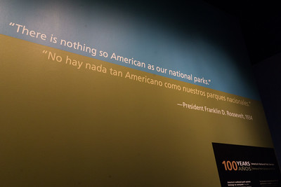An exhibit on America's National Parks.