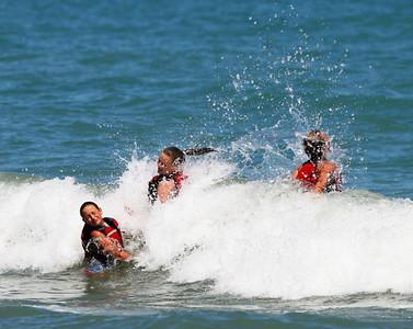 Aug. 12, '06: Racine RYC Jeanne's Kids Playing in Waves