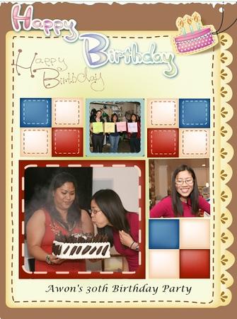 Awon 30th Birthday