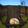 Molly asserting her humanness as she did all night. She much preferred human seating than say, grass, concrete, or tile.
