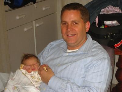 Bryan  holding Elodie (Matt and Jamie's baby)