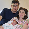 Happy little family. <br /> <br /> Baby Boy Dukes-Harper; proud parent's Annika & Will; Born the evening of Thursday May 27, 2010; 10 lbs 9 ounces; 23.65 inches long. Photos taken May 28, 2010.