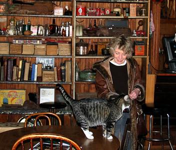 Liz makes another feline friend