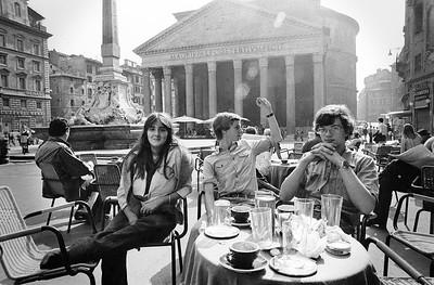 Ik ben de enige die van het mooie Pantheon geniet.