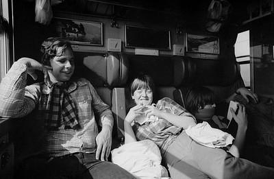 Op de trein terug van Rome naar Amsterdam.