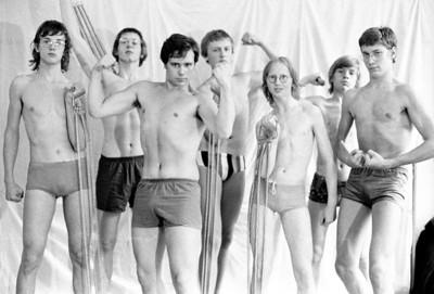 """Campagne foto """"De Grote 7: sterke mannen""""."""