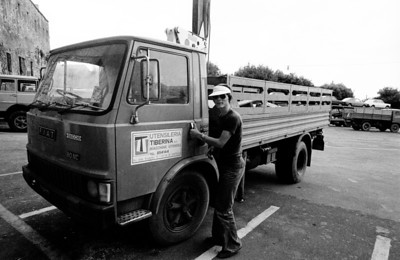Italiaanse trucker.