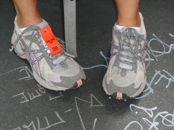 feet and graffitti