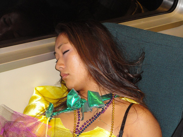 passed out woman on BART