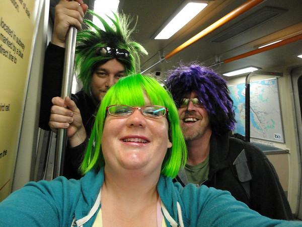 David, Jeremy, and I on BART