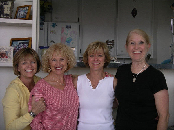 At Sue's condo, Long Beach, CA<br /> Jackie Wayman, Susan Lance, Judy Strachan, Donna Peters