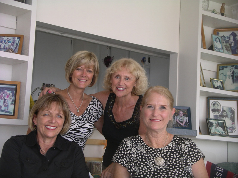 Jackie Wayman, Judy Strachan, Susan Lance, Donna Peters at Sue's Condo Long Beach, CA