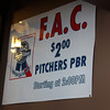 "We were surprised by the price of pitchers- not too surprised by the starting time for ""FAC"" happy hour, this being Wisconsin."
