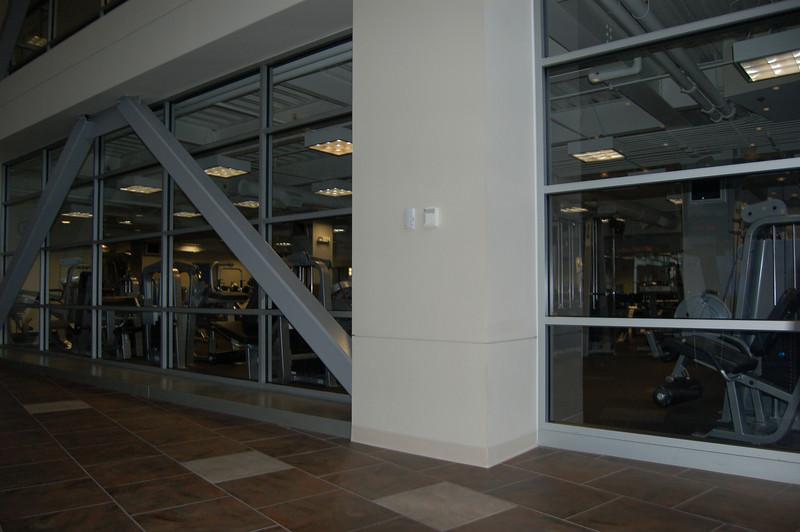Inside the fabulous new Dana Athletic Center.
