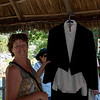 Mary bought Bill's nice house in Colosso.  When he left for California permanently s few years back, he left this famous tuxedo suit.  She brought it for this event and we gave it to good friend Chuy.