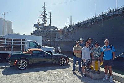 Bill Broce & Classmates on USS Midway