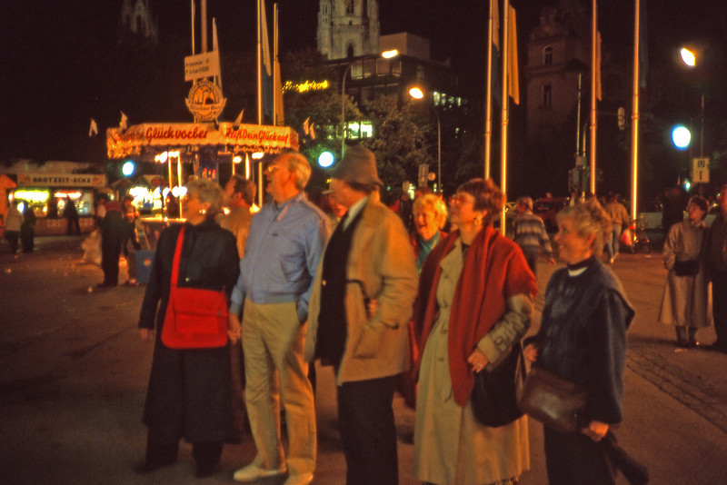 Visiting the Octoberfest, Munich 1989