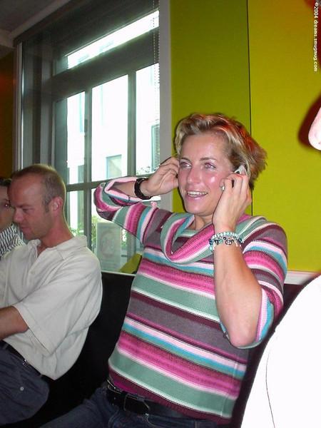 Ninette getting a happy birthday call