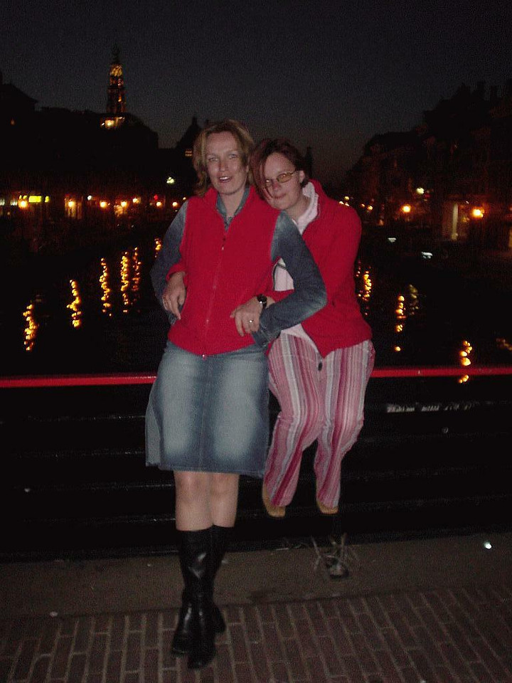 Later that night in Leiden, photo with flash