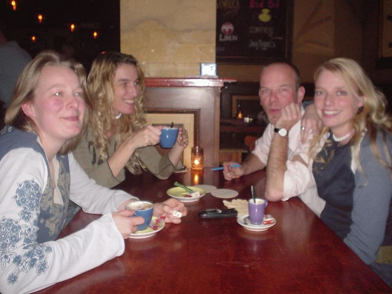 Dinner, once again with Femke, Fiola, Martin and Wietske