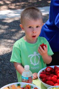 Brandon loves strawberries