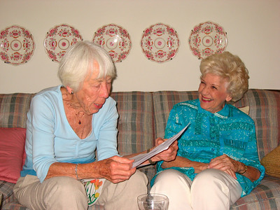 Bonnie is reading a beautiful story about the fun times she had with Jean during their youth in Iowa.