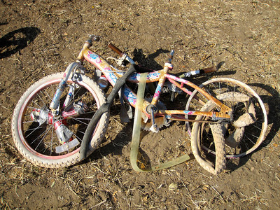 Bike at the end of the Beater Bash