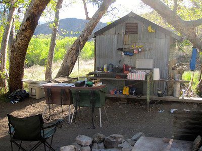 Camp site occupied by the Los Padres Outfitters http://www.lospadresoutfitters.com/main.html