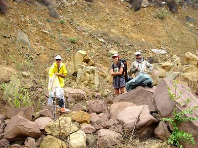 Light rain on the hike back to Piedra Blanca