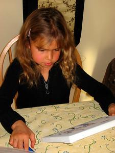 Jane admiring her art