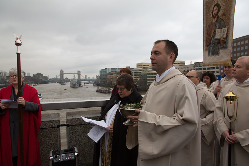 8 January 2017: The Annual Ceremony of the Blessing of the River Thames. London Bridge