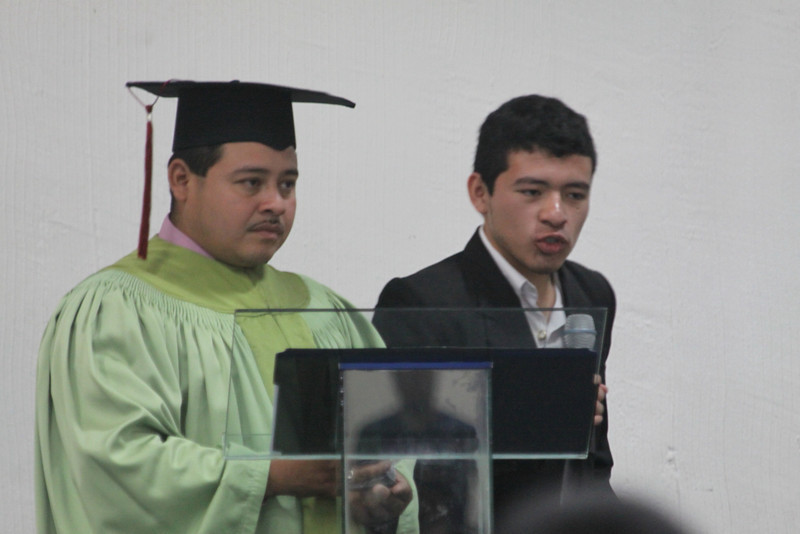 Freddy and his brother.  They are doing a presentation from El Bario for Christ to the school, Instituto Fredrico Crowe. The partnership between school and the ministry El Bario para Cristo is the providence of God and we are grateful.  IFC gives half scholarships and El Bario gives the other half.  What a blessing.